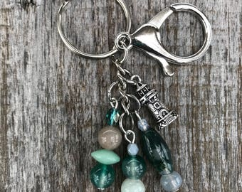 Keychains for Women, Lighthouse Gifts, Bag Charm, Purse Charm with Beads, Lighthouse Keychain, Handbag Charm, Beaded Bag Charm, Gift for Her