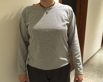 T-shirt, long sleeves cotton jersey
