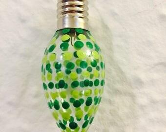 Christmas Tree Green Christmas Light Ornament