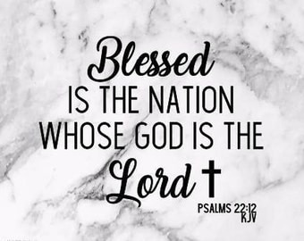 Blessed is the Nation Vinyl Decal, blessed decal, car decal, window decal, sticker