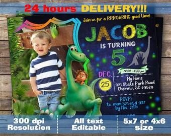 Good Dinosaur Invitation / Good Dinosaur Birthday Invitation / Good Dinosaur Invite / Good Dinosaur Birthday / Good Dinosaur Party