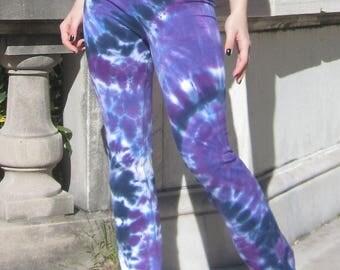 Boho Yoga Pants, Tie Dye, Gypsy, Hippie, Workout, Festival Wear