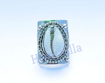 Cowrie shell ring, sterling silver ring , handmade ring, Shell Ring, 925 Sterling Silver