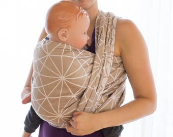 Lenka Cappucino Baby Wrap with Spider Web pattern- Baby wrap, Baby Sling, Baby Carrier, Lenka Carrier, Be Lenka, Baby Wearing, Baby Carrying