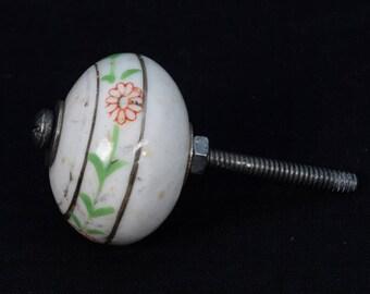 Beautiful Vintage Highly Decorative Ceramic Drawer / Wardrobe / Door Knobs - Traditional Ceramic Drawer Knob - Vintage Dresser Pull. i24-113