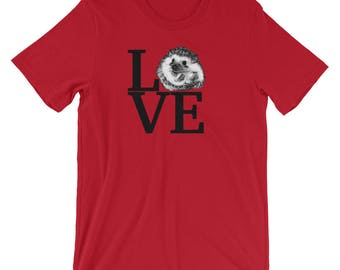 Cute Hedgehog Love Art Shirt | Short-Sleeve Hedgehog Fan T-Shirt | Shirts By Urchin Wear