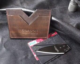 Old pilot | Leather cardholder For men For father Card case Card holder