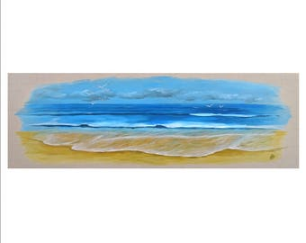 Seaside on canvas - oil painting