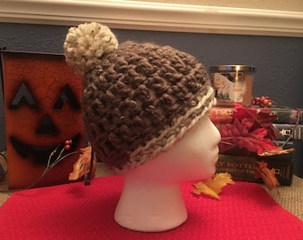 Crochet Toddler Winter Beanie with Pom Pom