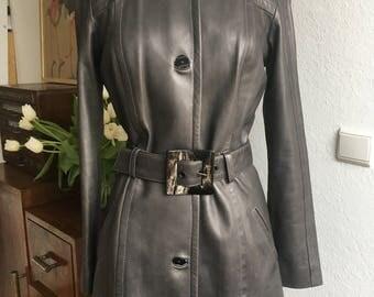 Vintage Jitrois gray leather jacket