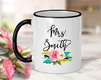 Teacher Personalized Bouquet Mug // Teacher Gift // Teaching Gift