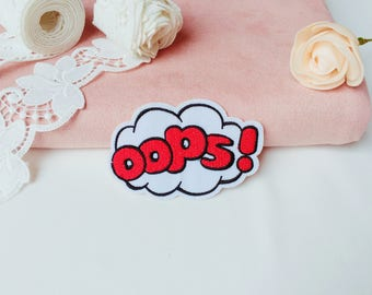 OOPS patch/iron on patch/embroidered  patch/sew on patch/patch for jacket