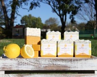 SOLD OUT / Lemon Poppy Tart Soap by Divo Beauty / Natural soap bar