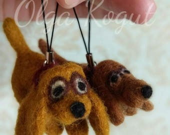 Needle felted dog, Miniature dog, felted Spaniel, Dachshund felted, figurine dog, wool sculpture,pendant for bag, keychain, gift, felted pet