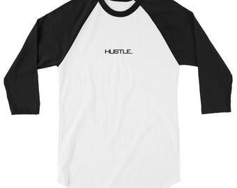 Hustle 3/4 sleeve raglan shirt   Swing Swag Dancer Gifts for Him