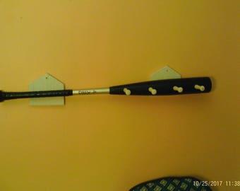 Authentic baseball bat coat rack