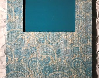 Turquoise Blue Paisley Frame