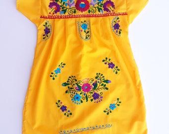 Mexican Dress, Mexican Girl Dress, Oaxacan Dress, Embroidered Dress, Girl Dress