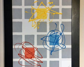 Primary colors by Temo - Abstract painting