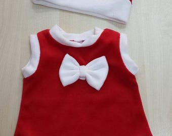 Cute Christmas Santa Dress + gift Hat