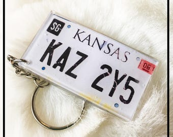 Supernatural Baby Impala License Number Plate KAZ 2Y5 Keyring keychain free P+P