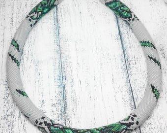 Fiona - Bead Crochet Rope Necklace