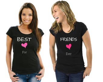 Best Friends T-Shirt - Forever Boys Whatever Tee Ladies, Friends, Forever, Ladies, Bestie, Gift, Besties, Best Friend