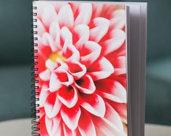 Pink Dahlia notebook - A5 unlined 90 pages - old stock sale