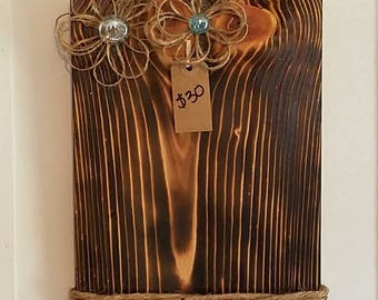 Wooden Picture Board holds 5x7 picture