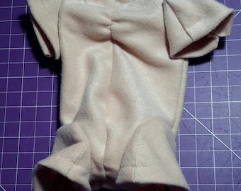 Doll body, body faux suede, dolls, faux suede, handmade, 3/4 articulated limbs, plastic links