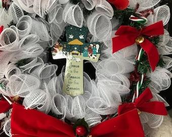 Jesus is the reason for the Season Christmas Wreath