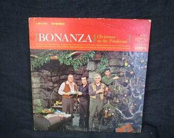 Bonanza / Christmas on the Ponderosa  / Vinyl LP / RCA Victor / LSP 2757