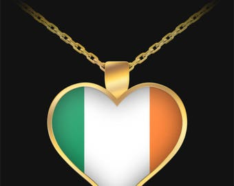 Irish Heart - Gold Plated Necklace