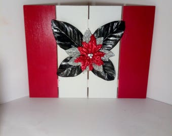 Charmant Red Home Decor, Flower Home Decor Wooden Pallet, Red Wall Decor, Pallet Sign