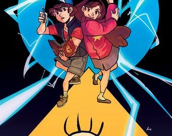 11x17 PRINT - Gravity Falls Dipper and Mabel