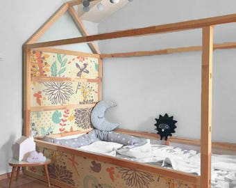 IKEA KURA BED Removable Stickers Colorful Floral | Ikea Nursery Decals |  Furniture Stickers | Furniture