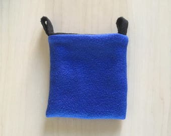 Sugar Glider Pouch - Cage Pouch - Sleeping Pouch - Rat Pouch - Blue And Black