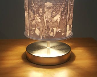Lithophane Custom Personalized Lamp   Photo Gift   Christmas Gift   3D Printed   Lamp Shade   Bedroom Lamp   Gift
