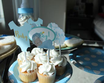 Baby Shower Cupcake Toppers / Baby Shower Boy / Baby Shower cupcakes / Cute cupcakes / Baby Shower