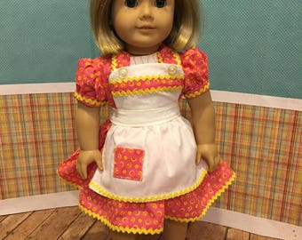 Dress/Apron for 18 inch doll like American Girl
