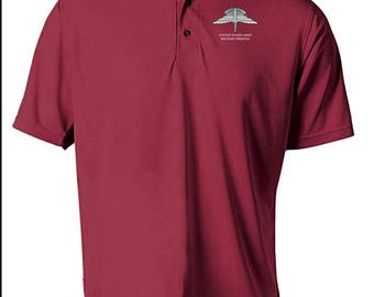 US Army HALO Embroidered Moisture Wick Polo Shirt -7716