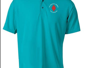 5th Infantry Division Embroidered Moisture Wick Polo Shirt -4055