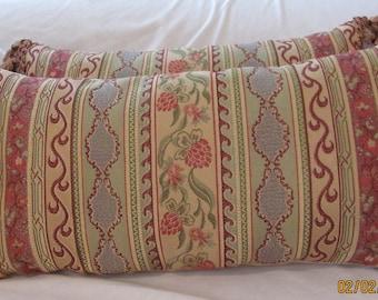 Lee Jofa Brocade Lumbar Pillow Cover