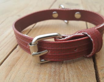 "Dog collar made of used firehose Type ""Fikkie"""