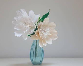 Japanese Peonies, Paper Flowers