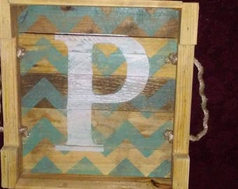Rustic Initial Tray