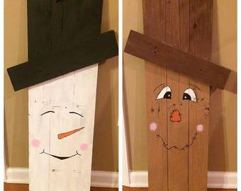 Reversible snowman/ scare crow