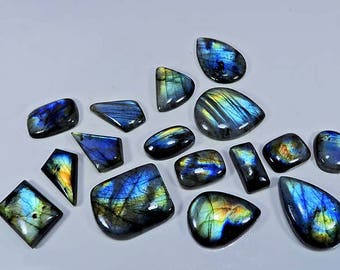 40%OFF  512cts. natural multi flash labradorite Fancy cabochon nice gemstone 16pcs. AAA+++ Quality Low In Price Fantastic Gemstone lot.