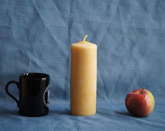 """Large Handmade 100% Natural Beeswax """"Magna"""" Pillar Candle - 16.5 cm x 6.3cm (6.5"""" x 2.5"""")"""