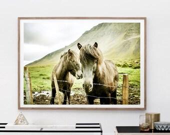 Horse Art Print, Digital Download, Fine Art Photography, Modern Boho, Nursery Print Art, Animal Wall Art, Horse Love